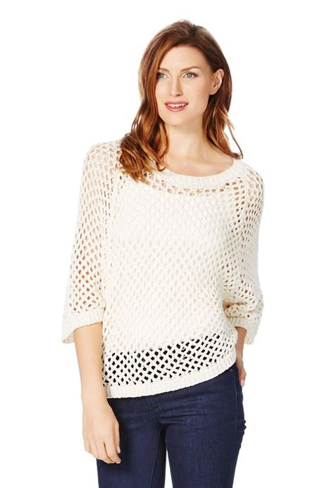 mesh sweater mesh sweater in white get great deals at justfab