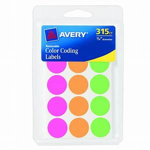 Amazon avery round color coding labels 075 inch for Cheap round labels