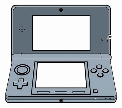 Console Clipart System Handheld Nintendo Games 3d
