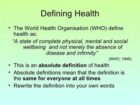health organisation sociology unit define defining class