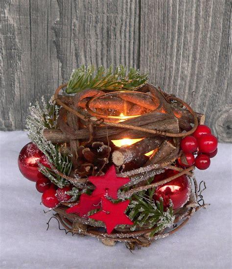 Weihnachtliche Tischdeko Holz by Holzkranz Tischdeko Windlicht Advent Adventskranz
