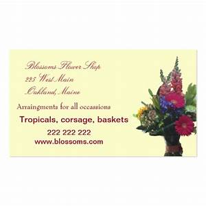 Business card flower shop zazzle for Flower shop business cards
