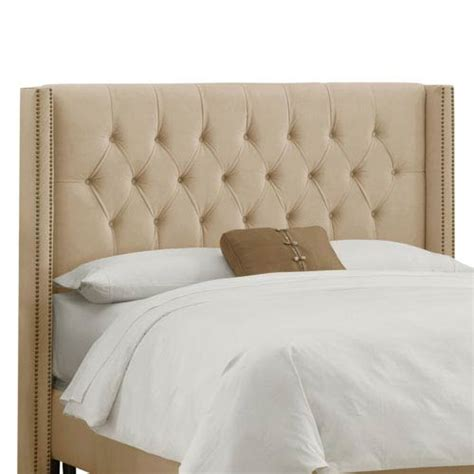 king bed tufted headboard bellacor
