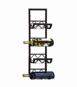 Black Metal Wall Wine Rack