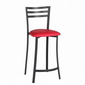 Tabouret De Bar 4 Pieds : tabouret de bar en m tal assise synth tique urane 4 pieds tables chaises et tabourets ~ Teatrodelosmanantiales.com Idées de Décoration