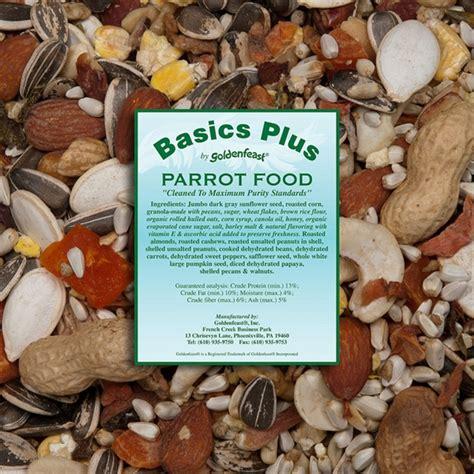 goldenfeast basics parrot food bulk 8lb