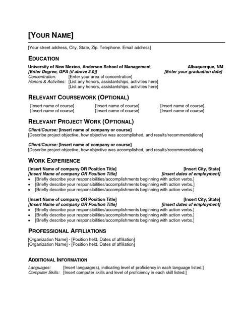 resume exle blank resume to print free blank resume