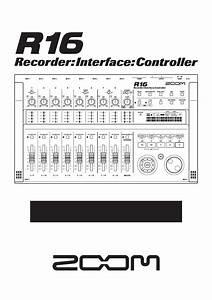Zoom R16 User U0026 39 S Manual