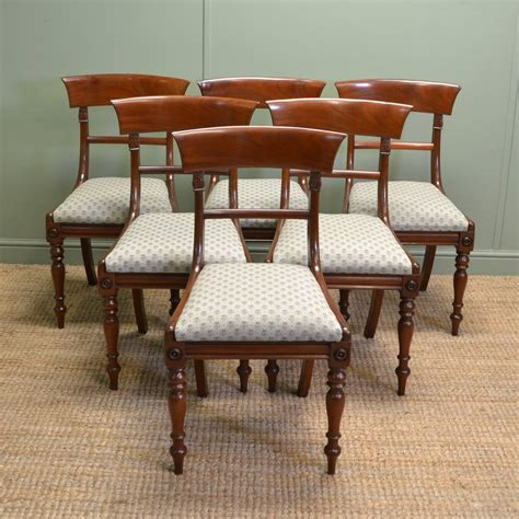 antique dining chair set of 6 regency mahogany antique dining chairs 1267