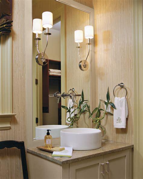 bathroom wall sconces Bathroom Traditional with cream