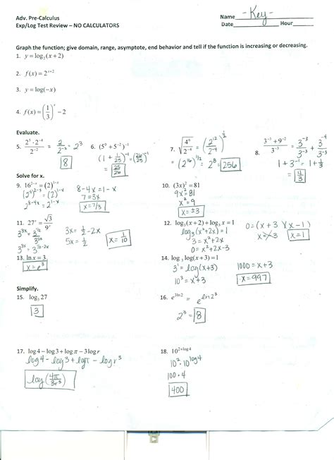 Precalculus Worksheets With Answers  Free Printables Worksheet