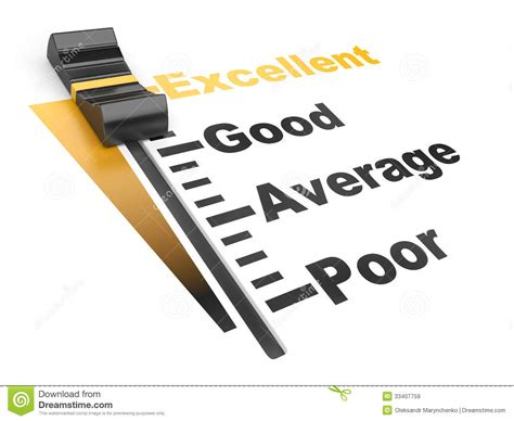Evaluation Rate  Excellent  Poor Stock Illustration