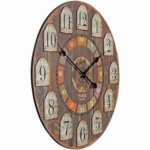 Wanduhr Xxl Holz : finebuy deko vintage wanduhr xxl 60 cm france holz bunt gro e uhr rustikal dekouhr rund ~ Buech-reservation.com Haus und Dekorationen