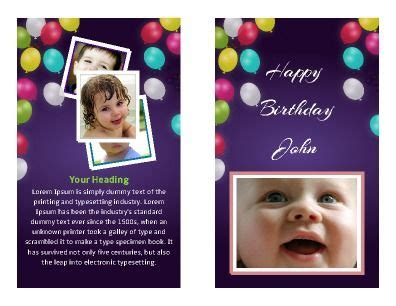 front  foldprintable birthday card easy  edit
