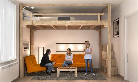 mobili per soppalco il letto a scomparsa sale sul soffitto casafacile