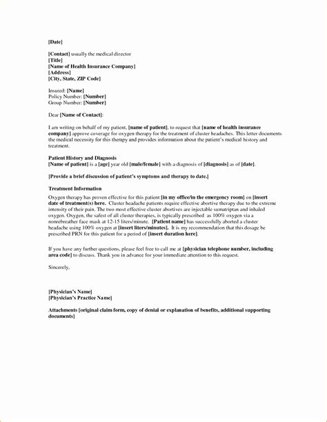 The health insurance appeal letter is usually written to the health. Letter Of Medical Necessity for Physical therapy Template Samples | Letter Template Collection