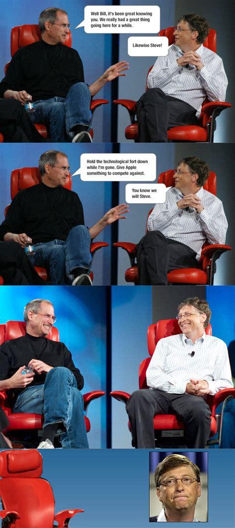 Bill Gates And Steve Jobs Meme - image 182729 steve jobs vs bill gates know your meme