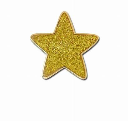 Glitter Star Yellow Badge Badges