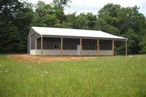 Pole Barn with Storage