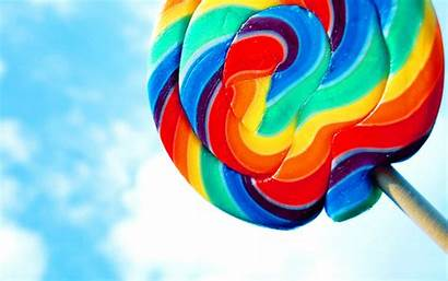Lollipop Wallpapers Android Rainbow Lecca Piruletas Candy