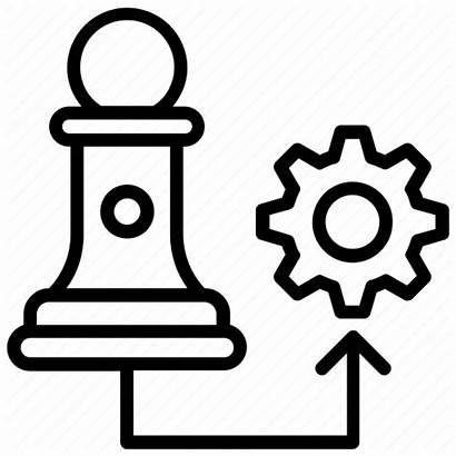 Strategy Icon Strategic Corporate Management Marketing Icons