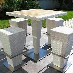 Table Haute Et Tabouret : ensemble table haute et tabourets compact hi h misph re ditions ~ Teatrodelosmanantiales.com Idées de Décoration