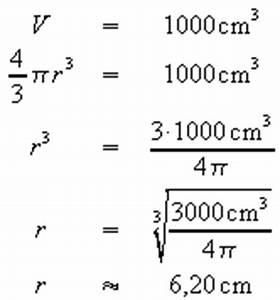 Volumen Einer Kugel Berechnen : geometrie 2 ~ Themetempest.com Abrechnung