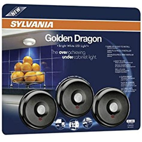 Battery Operated Cabinet Lighting Menards by Ymmv Sylvania 72404 Golden Cabinet Led Light