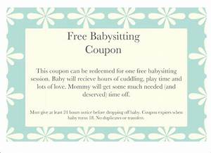 free printable coupon template images template design ideas With babysitting gift certificate template