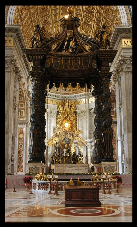 Baldacchino By Bernini Arhs Pictures History 1020 With Bagneris