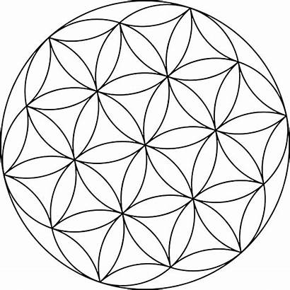 Coloring Geometric Circle Pages Books Flower Circles