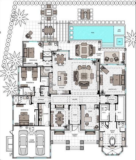 house plans 2 master suites single single 3 bed with master and en suite open floor
