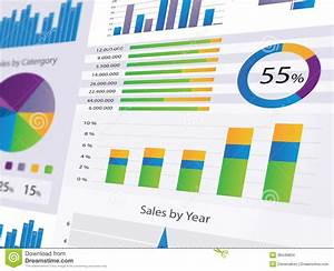 Graphs And Charts Stock Illustration  Illustration Of