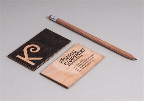 astonishing wood business cards   talented