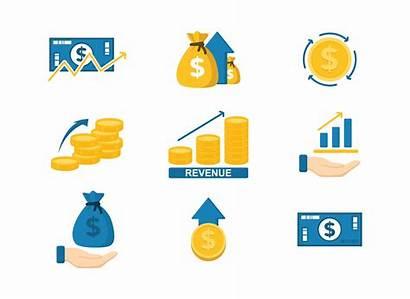 Icon Vecteezy Symbole Umsatz Revenue Icons Money