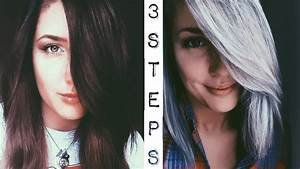 Dark Brown To Silver Hair 3 Step Tutorial YouTube