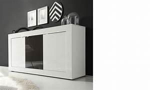 Enfilade Blanc Laqué : enfilade 3 portes blanc et gris laqu design focus 3 ~ Teatrodelosmanantiales.com Idées de Décoration