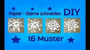 Sterne Aus Papier Schneiden : papier sterne schneiden anleitung youtube ~ Watch28wear.com Haus und Dekorationen