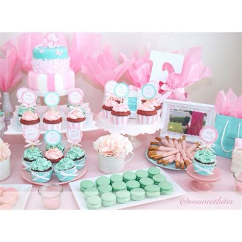 pink dessert table baby shower pink and tiffany green inspired baby shower dessert table