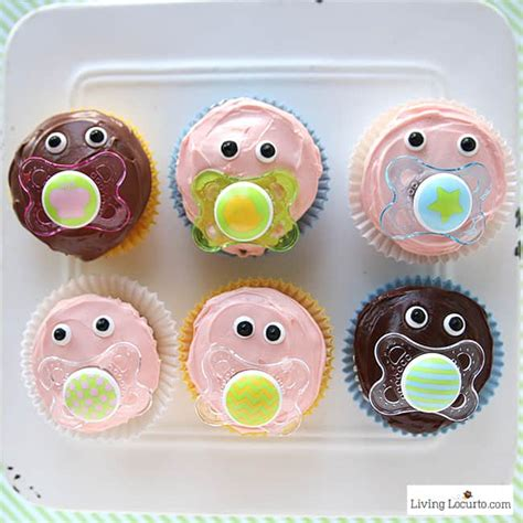 baby shower cupcakes with pacifiers baby pacifier cupcakes baby shower ideas