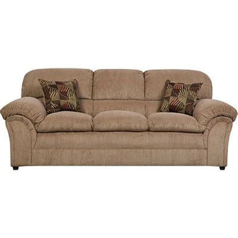 simmons 174 chion tan sofa with pillows furniture