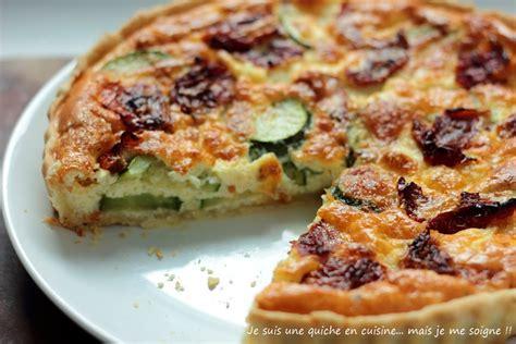 cuisiner une quiche recette de quiche aux courgettes et mozzarella