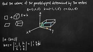 Volume Of The Parallelepiped Determined By Vectors