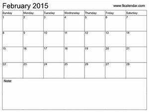9 best images of blank february calendar 2015 printable With calendar template for february 2015