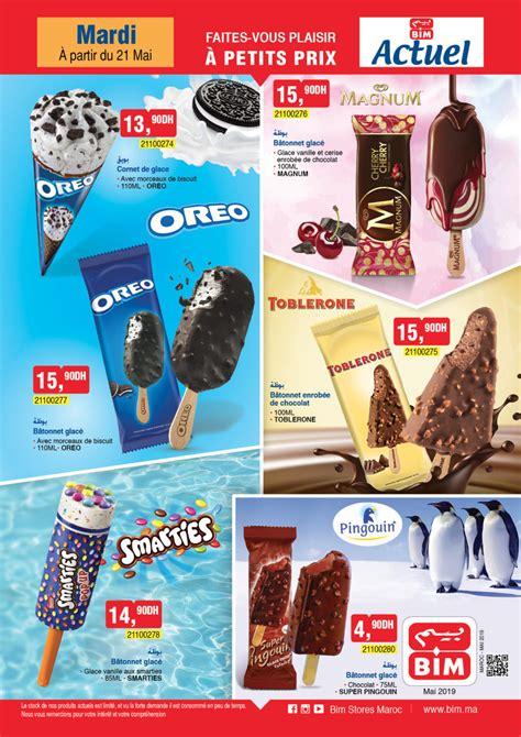 catalogue bim maroc speciale glaces du mardi  mai