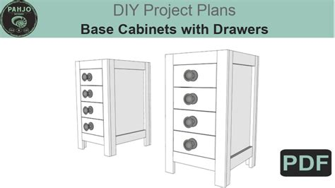 desk base cabinet diy plans pahjo designs
