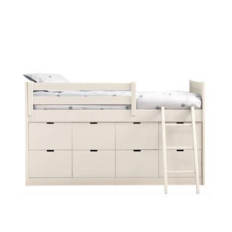 deco chambres enfants lit enfants juniors avec 8 tiroirs de rangement liso block