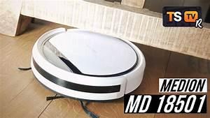 Medion Saugroboter 18500 : medion saugroboter md 18501 18500 test deutsch flach g nstig mit wischfunktion youtube ~ A.2002-acura-tl-radio.info Haus und Dekorationen