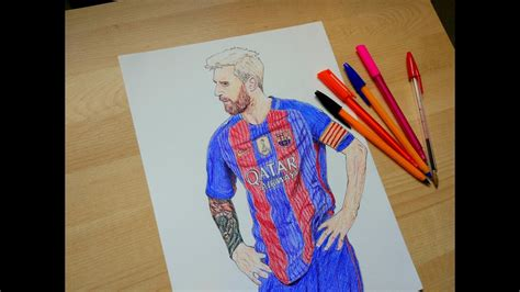 Barcelona Lionel Messi Drawing