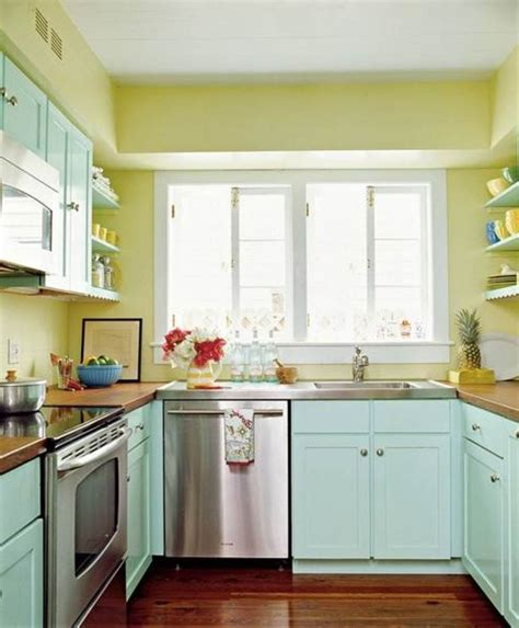 kitchen color schemes how to paint a small kitchen in a light color interior 3378